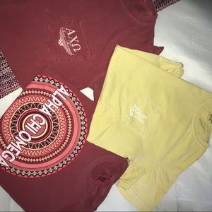 Alpha Chi Omega tees size s comfort colors